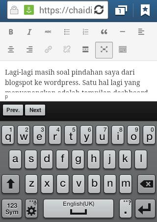 kesulitan ngeblog dari wordpress android smartphone