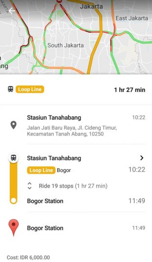 Jadwal KRL Tanahabang - Bogor