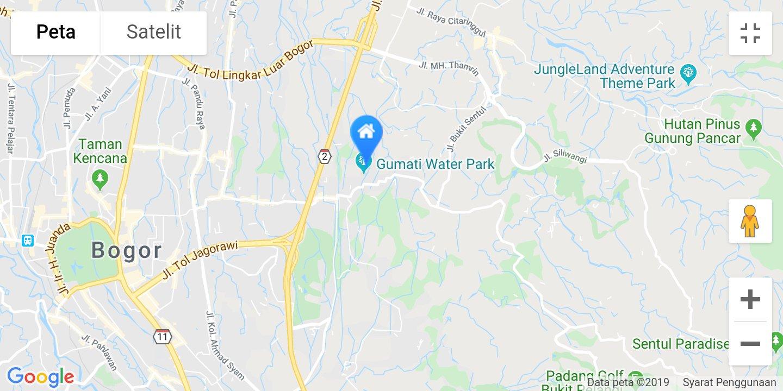 lokasi grand mulya bogor di maps