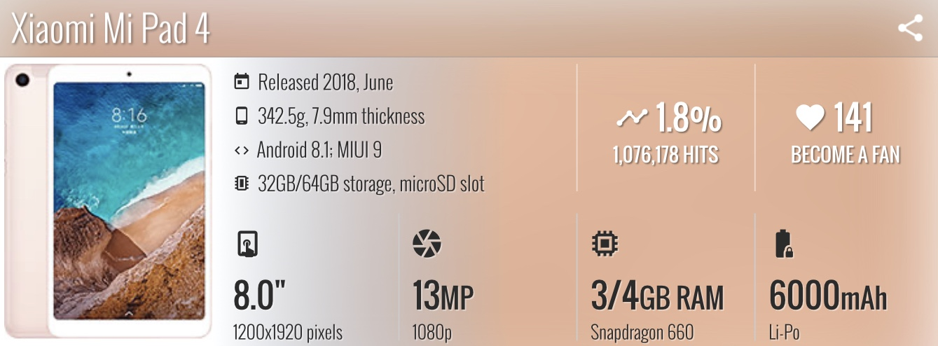 Xiaomi mi pad 4 bingung memilih tablet