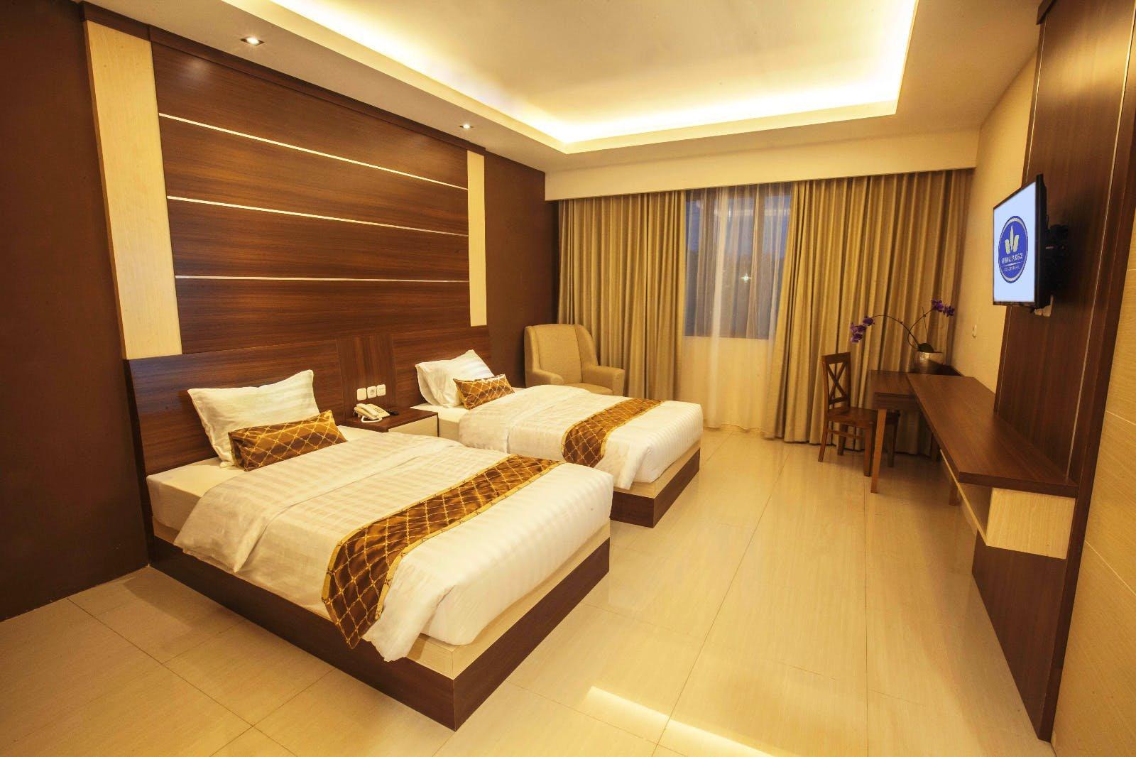 kamar grand superior twin bed grand mulya bogor