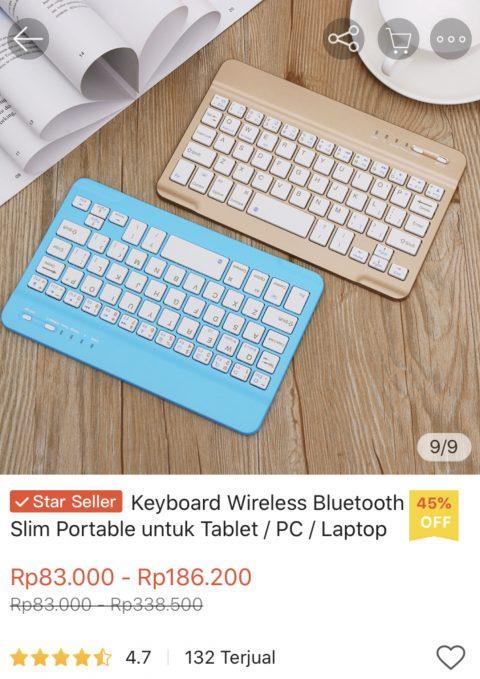 Keyboard bluetooth murah meriah shopee