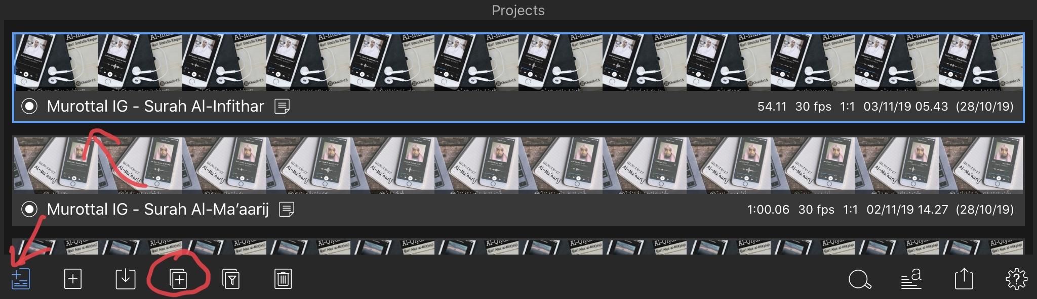 Sequence project di lumafusion tutorial membuat video