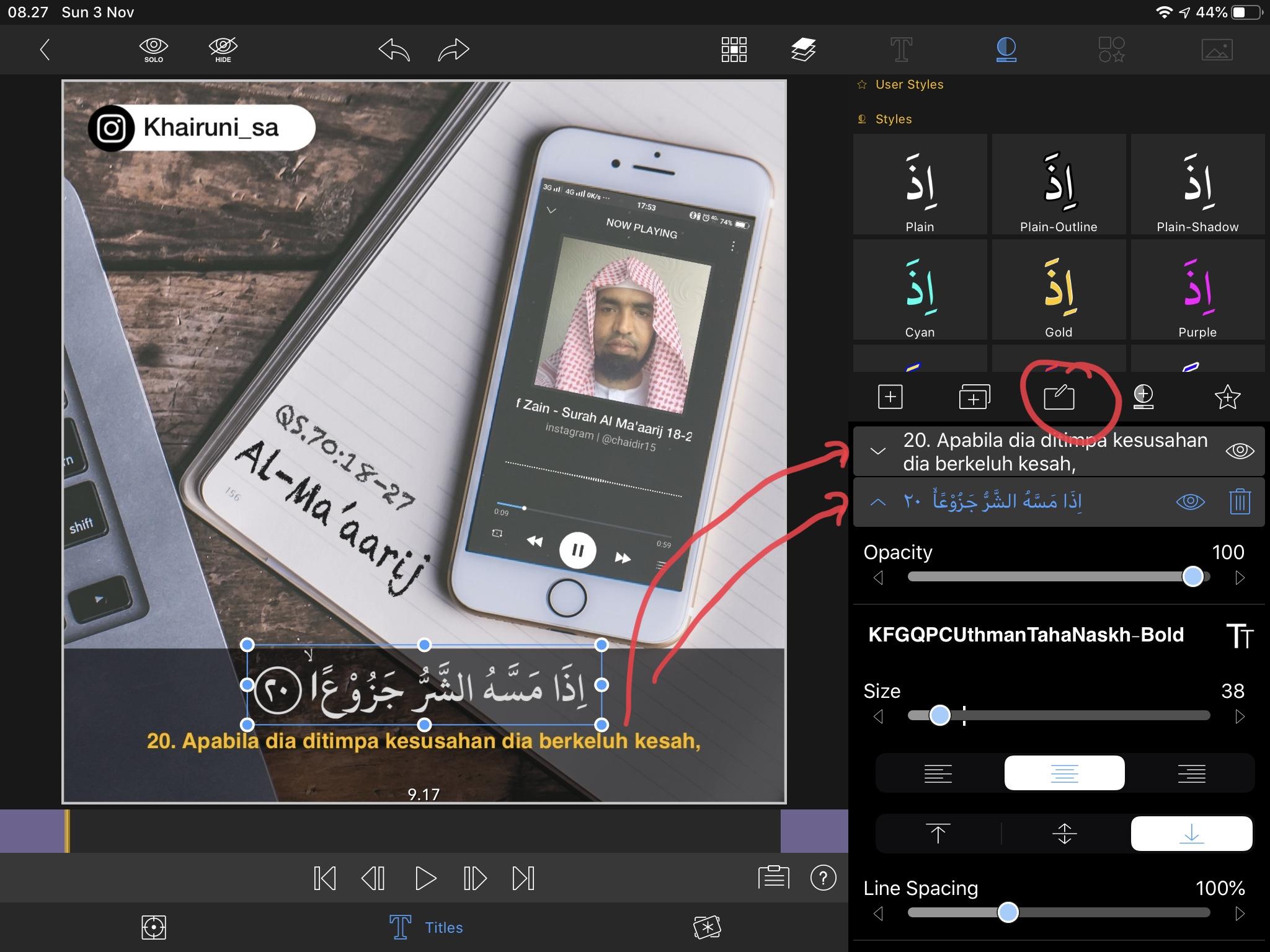 Cara membuat video spectrum instagram