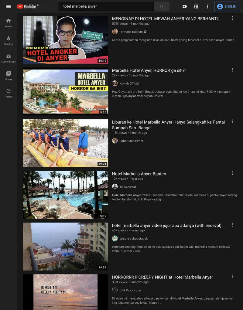 Ulasan youtuber hotel marbella anyer menyeramkan