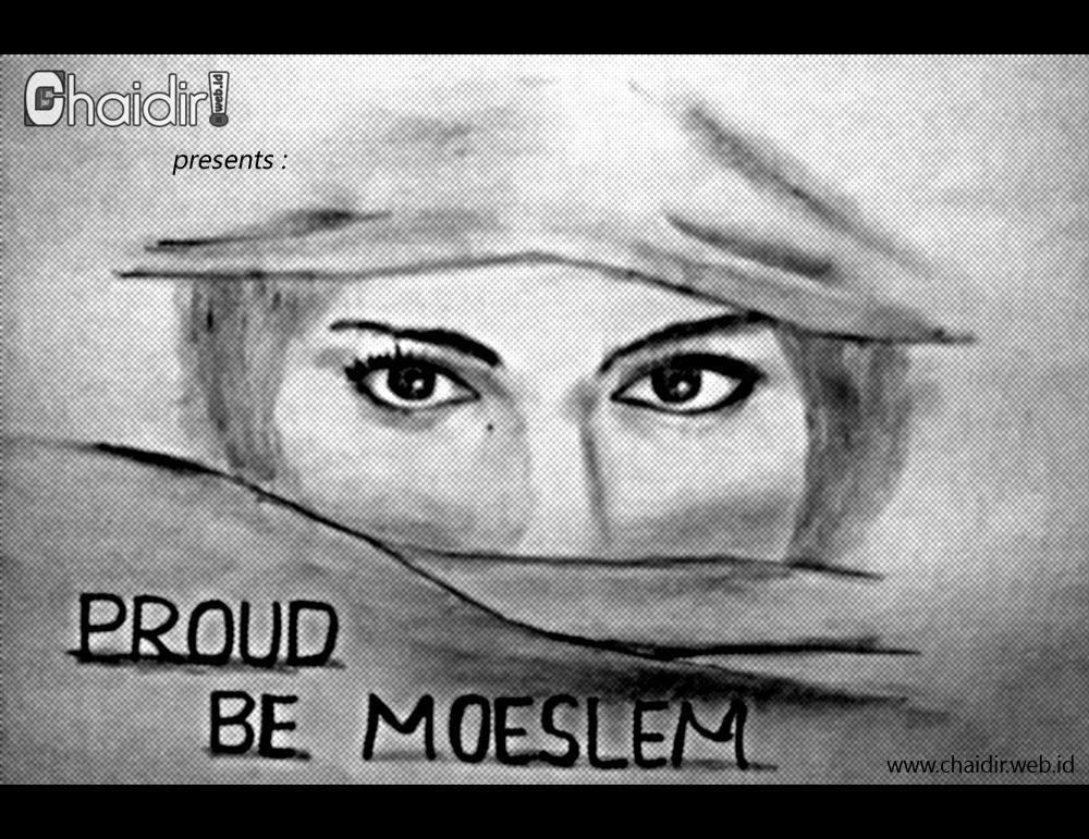 Sketsa Gambar Wanita Berhijab Dari Samping