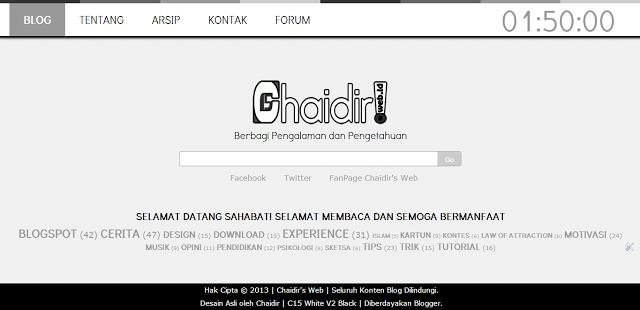 homepage-website-statis