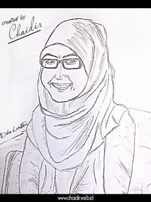 Hasil-Gambar-Sketsa-Wajah-Cewek-Muslimah