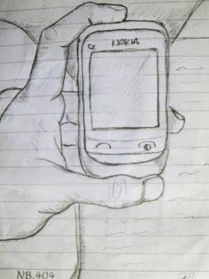 Gambar-Sketsa-Tangan-Megang-HP